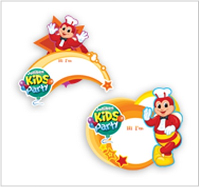 The pinoy informer party items for jollitown themed jollibee party jollitown theme name tags stopboris Choice Image