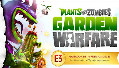 Juego Plants vs zombies garden warfare