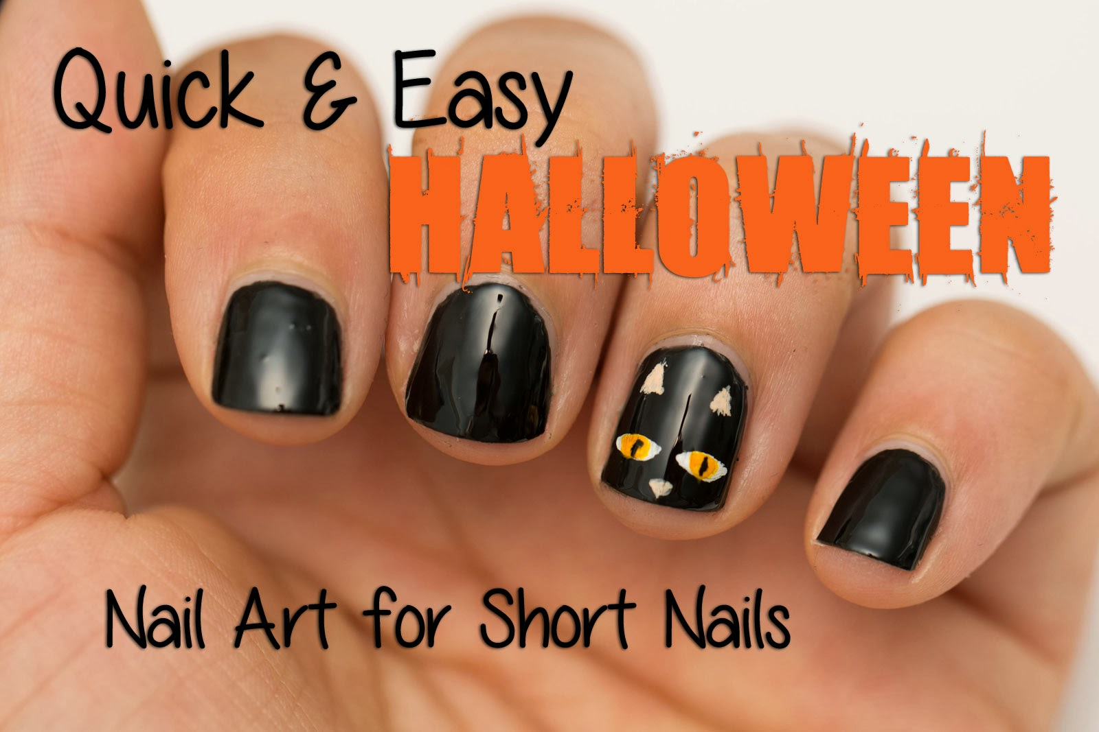 Beauty by Arielle: Quick and Easy Halloween Nail Art For Short Nails