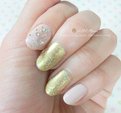 [Self Nail] Gold Pearl Polish, Gold Pearl Nail Polish, Gold Polish Elegant Pearl