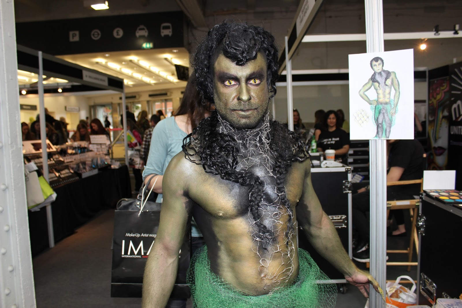 IMATS london 2014 body painting puck transformation finished look