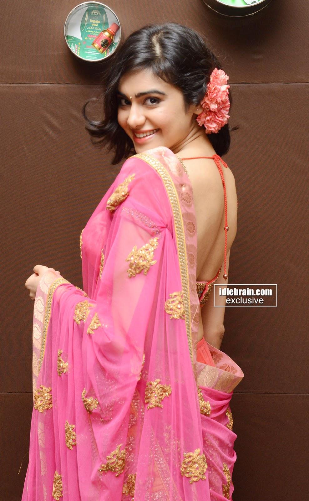 Adah Sharma saree back