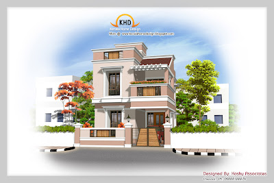 Duplex House Elevation - 149 Square meter (1600 Sq.Ft)- December 2011