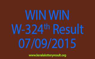 WIN WIN W 324 Lottery Result 7-9-2015