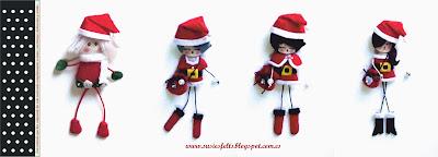 Susies, sixties, kokis, broches, fieltro, muñecas, christmas, navidad