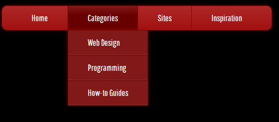 dropdown menu completed css