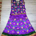 Purple Thread Work Silk Skirt