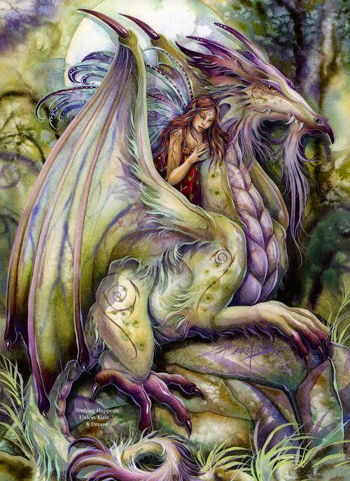 faery and dragon