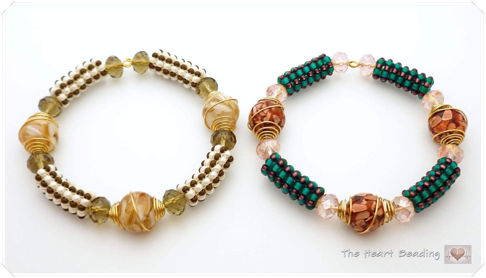 Bracelet made of crystals and beads 84