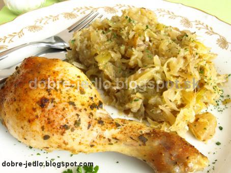 Pečené kurča na kapuste - recepty