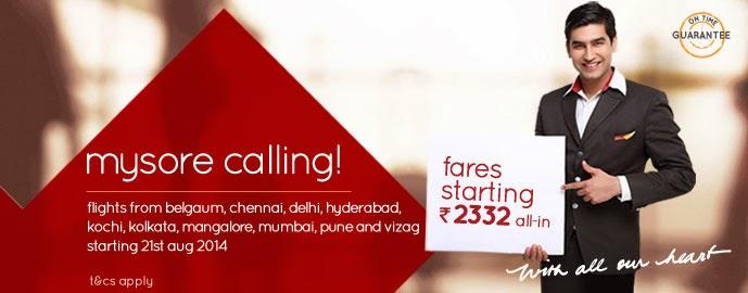 mysore calling - Spicejet