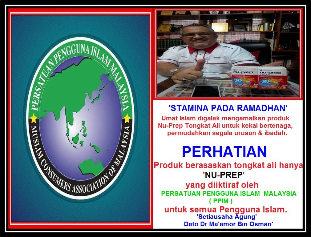 SIHAT BERTENAGA semestinya Nu-Prep Tongkat Ali.