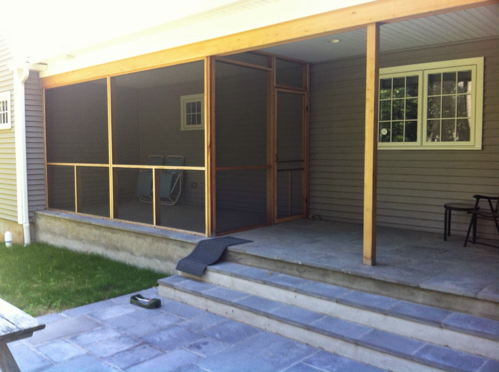 Aluminum screen, nylon screening, bugs, screens, porch, patio, wood, cedar, panels, clean, rot resistant