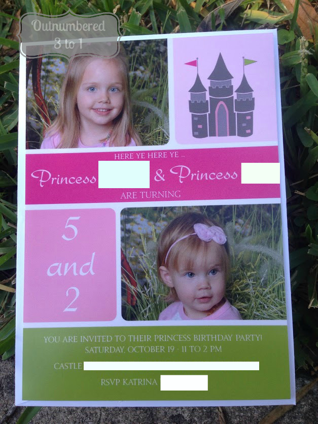 i loved that i was able to edit all the wording and number areas because i needed to change it up to better fit for two girls they wanted a princess party