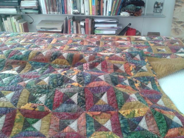 Jubilocios mi primera colcha de patchwork - Como hacer colchas de patchwork ...
