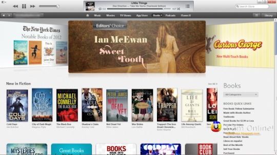 iTunes 11, iTunes Store, Books