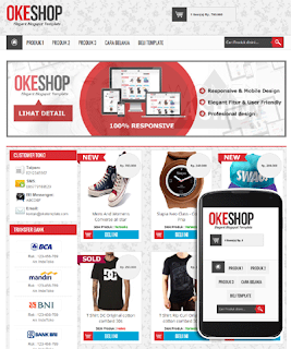 OKEshop Blogger Template