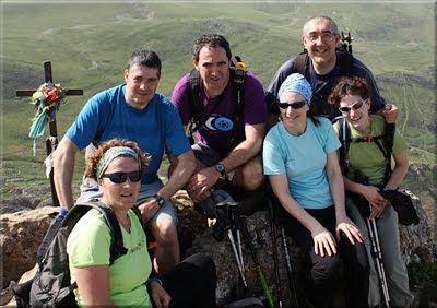 Larrunarri-Txindoki mendiaren gailurra 1.346 m. - 2011ko apirilaren 9an