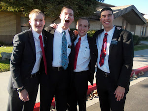 Elder Johnson, Elder Jenkins, Elder Clough, & Elder Vaca Guzman