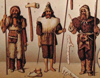Vestimentas e instrumentos de tribos bárbaras
