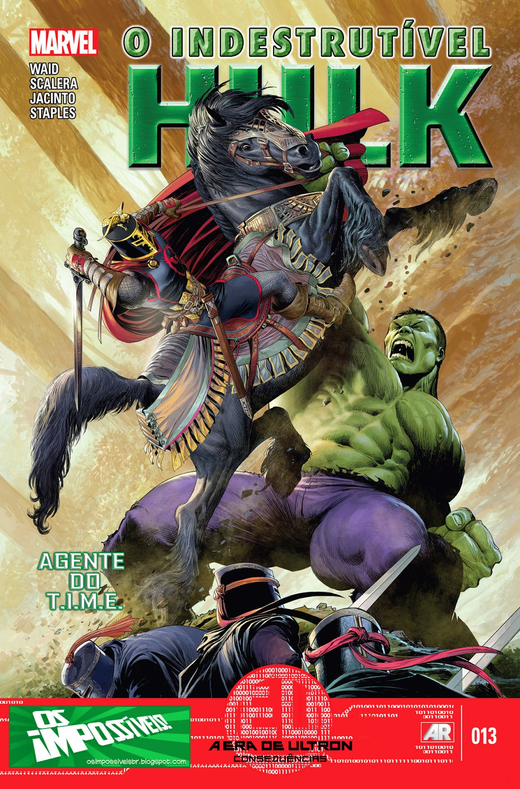 Nova Marvel! O Indestrutível Hulk - Agente do T.I.M.E #13