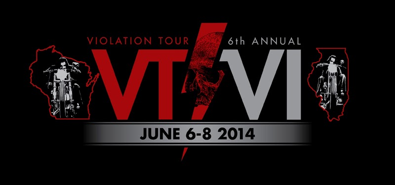 6th annual Violation Tour June 6,7,8th 2014