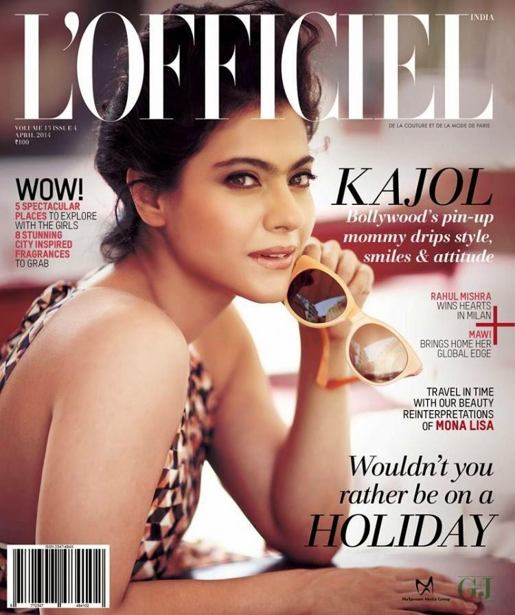 Kajol on the cover of L'Officiel