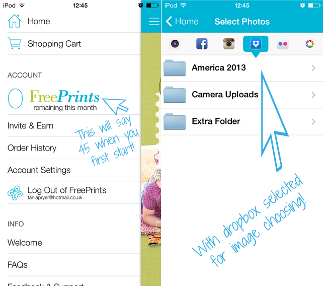 tania michele new app review free prints
