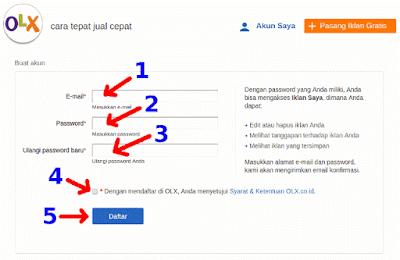 Cara Daftar OLX.co.id 2015 - Step 3