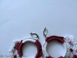 вязание крючком, вязаные украшения, серьги крючком
