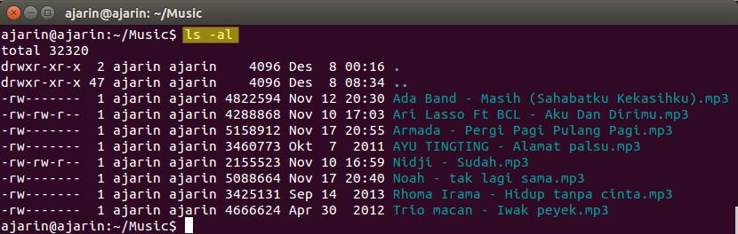 Manajemen File dan Direktori Linux - ls -al