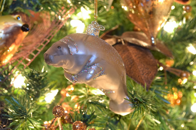 manatee christmas ornament
