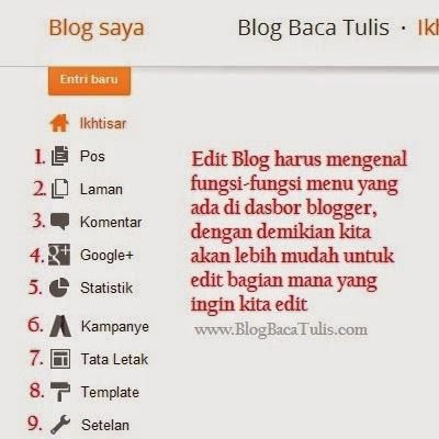 Cara Mengedit Blog