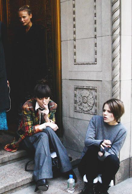 Freja Beha Erichsen, Street Style, Plaid,  Menswear