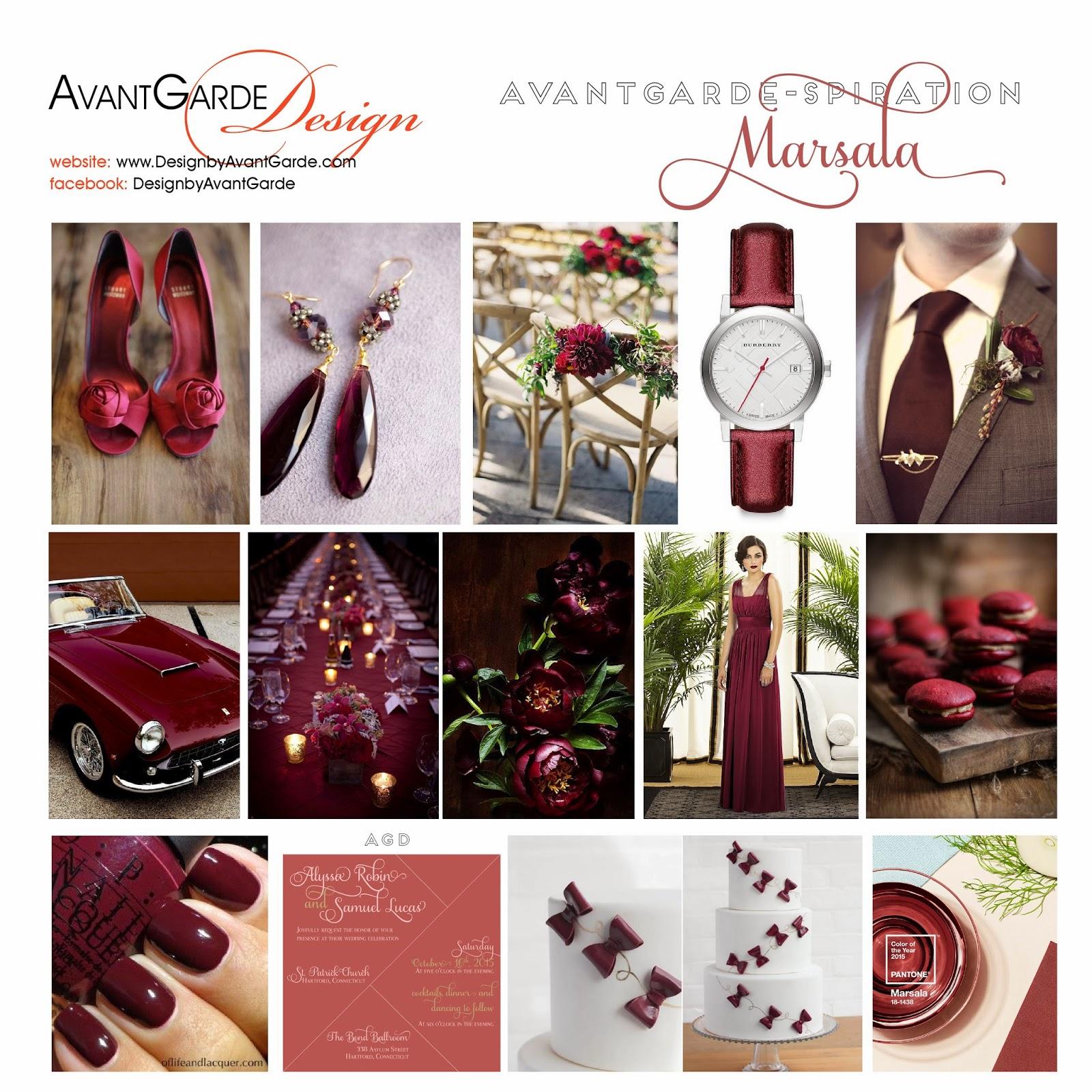Marsala Inspiration - Pantone Color of the Year 2015 { AvantGarde ...