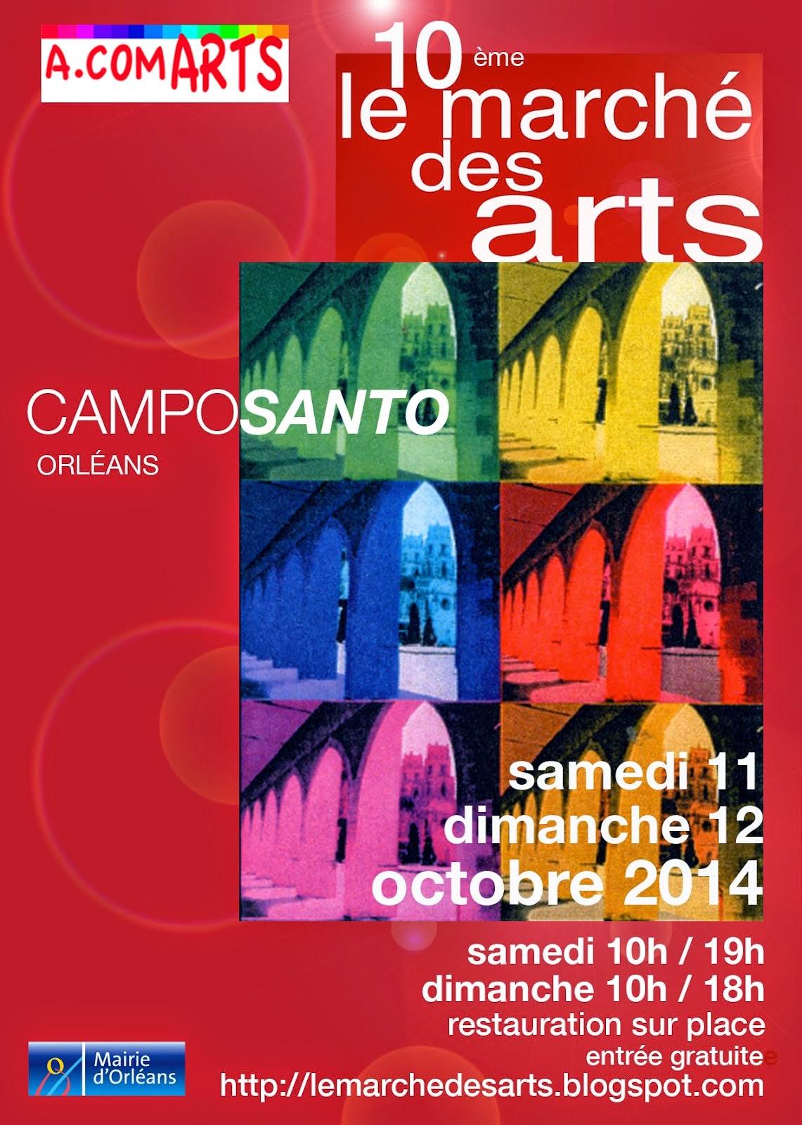 ORLEANS : CAPTON AU 10ème MARCHÉ DES ARTS DU CAMPO SANTO