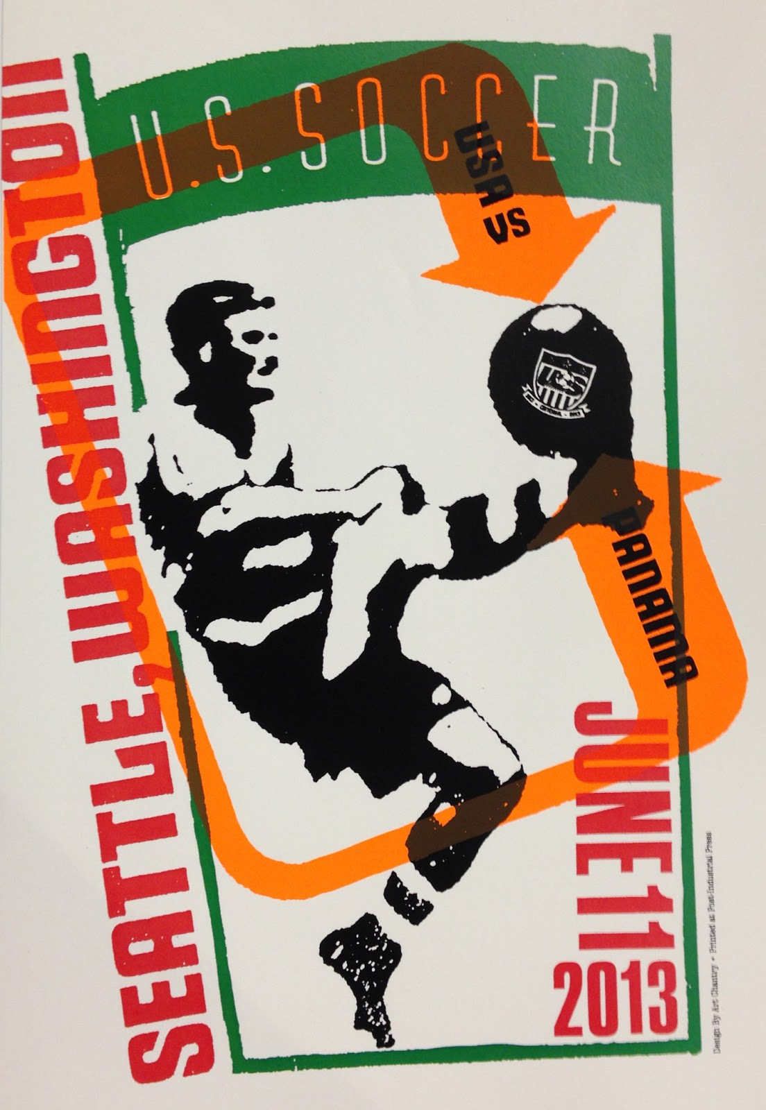 Art Chantry Soccer Poster