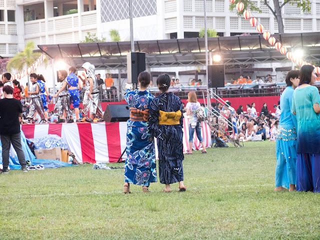 ladies at Japanese summer festival