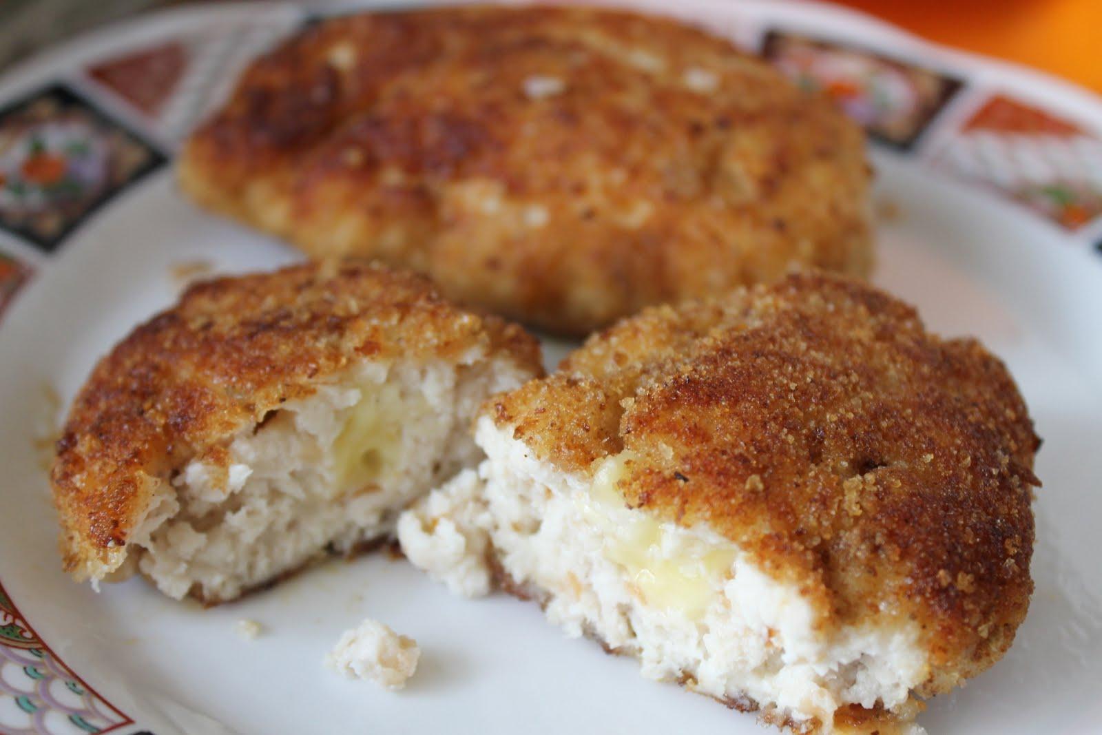 Куриные котлеты с сыром внутри рецепт