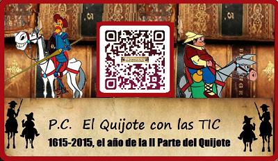 P.C. El  Quijote  y Cervantes con las TIC