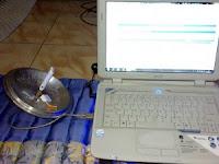 Salah satu cara meningkatkan sinyal modem usb pake tutup panci bekas