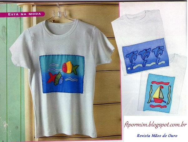 Camisetas de malha customizadas com pintura feito por - Pintura para camisetas ...