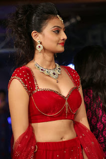 Actress Nikitha Narayan Latest  Pictures in Designer Dress at Fashionology Fashion Show 2013 0035.jpg