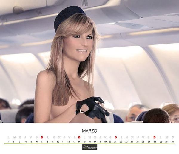 aeroflot nude with calendar Stewardesses