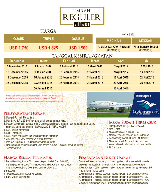 Biaya Paket Umroh Bulan Februari 2016 | Travel Umroh Alhijaz Indowisata di Jakarta Timur