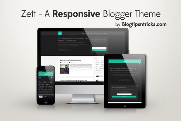 Zett - A Responsive Blogger Template