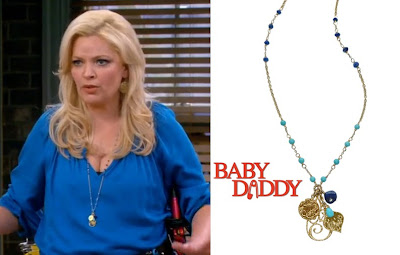 Baby Daddy's Melissa Peterman wearing Sophia & Chloe Dolce Vita Turquoise and Lapis Necklace