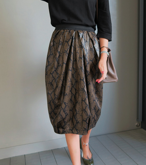 Scale Texture and Patterned Skirt