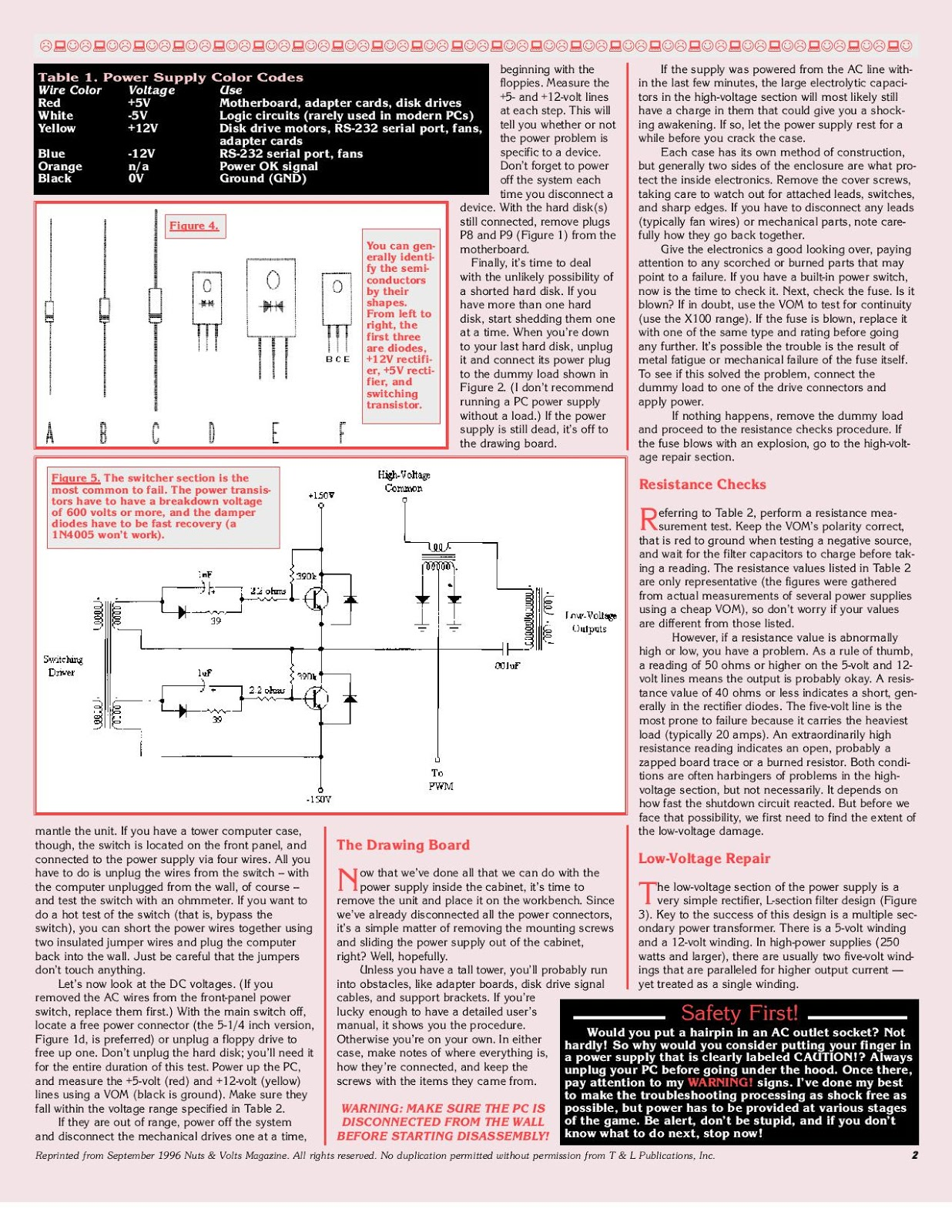 PSU (Power Supply Unit) Circuit Board Diagram and Repair Guide ...