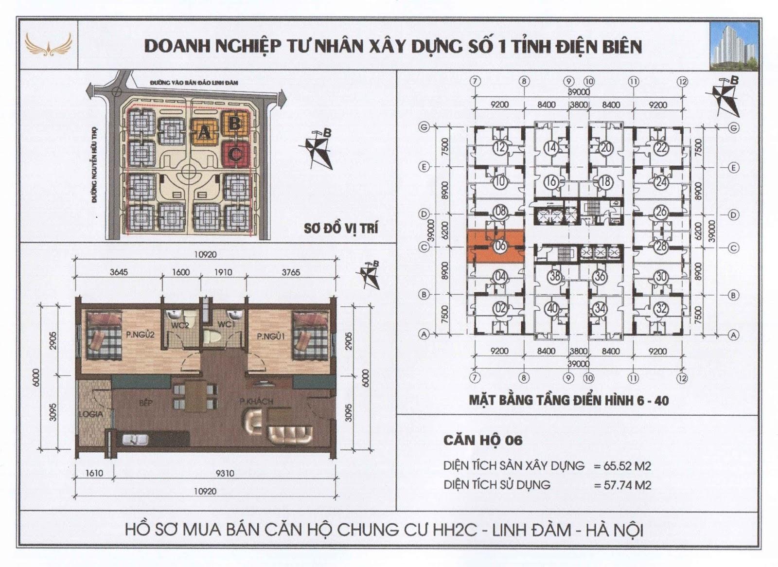 Thiết kế dự án HH2C Linh Đàm